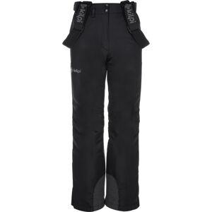 Dětské zimní lyžařské kalhoty kilpi elare-jg černá 152