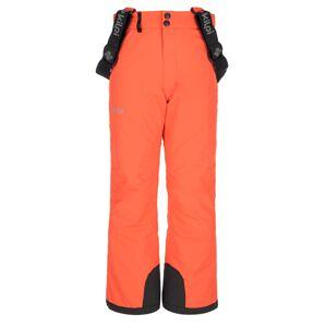 Dětské zimní lyžařské kalhoty kilpi elare-jg korálová 158