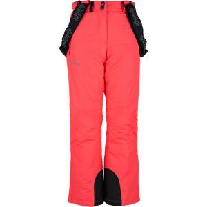 Dětské zimní lyžařské kalhoty kilpi elare-jg růžová 146