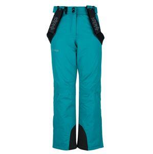 Dětské zimní lyžařské kalhoty kilpi elare-jg tyrkysová   152