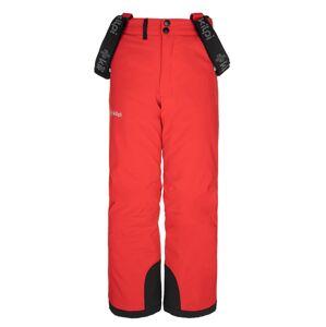 Dětské zimní lyžařské kalhoty kilpi methone-jb červená 152