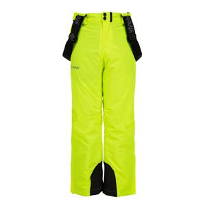 Dětské zimní lyžařské kalhoty kilpi methone-jb žlutá  146