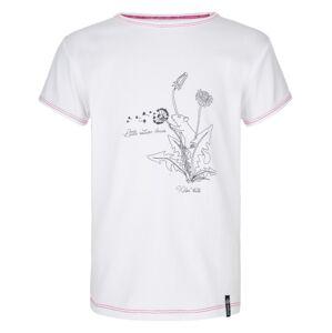 Dívčí bavlněné tričko kilpi avio-jg bílá 134_140