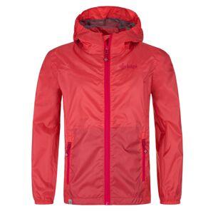 Dívčí lehká nepromokavá bunda kilpi deneri-jg růžová 110_116