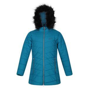 Dívčí prošívaný kabát regatta fabrizia petrolejově modrá 158