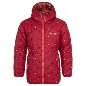 Dívčí zimní prošívaný kabát kilpi damia-jg tmavě červená 122_128