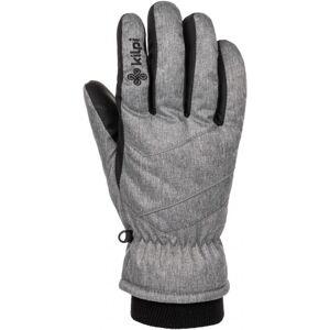 Lyžařské rukavice kilpi tata-u světle šedá s