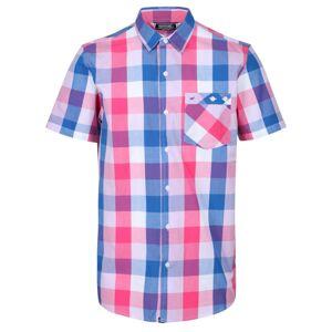 Pánská košile regatta ramiel růžová/modrá xl