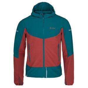 Pánská lehká softshellová bunda kilpi balans-m tmavě červená xs