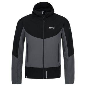 Pánská lehká softshellová bunda kilpi balans-m tmavě šedá xxl