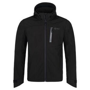 Pánská softshellová bunda kilpi ravio-m černá 4xl