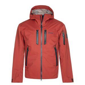 Pánská třívrstvá bunda kilpi hastar-m tmavě červená s