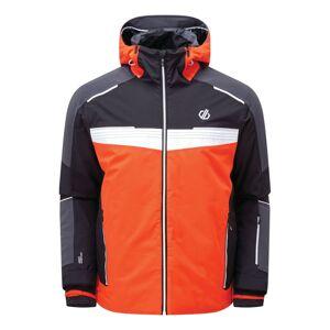 Pánská zimní bunda dare2b below černá/oranžová m