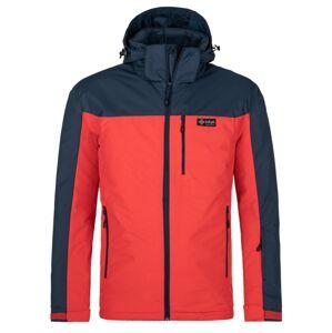 Pánská zimní bunda kilpi flip-m červená xxl