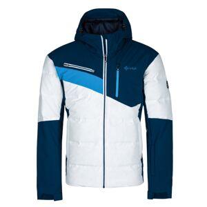 Pánská zimní lyžařská bunda kilpi teddy-m bílá 6xl