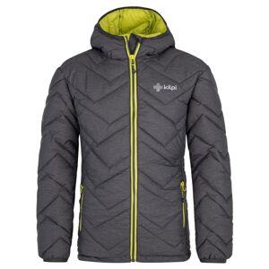 Pánská zimní prošívaná bunda kilpi rebeki-m tmavě šedá 6xl