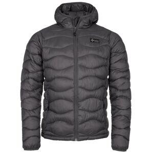 Pánská zimní prošívaná bunda kilpi rebeki-m tmavě šedá xl