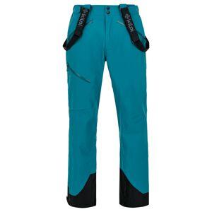 Pánské 3 vrstvé technické kalhoty kilpi lazzaro-m tyrkysová l