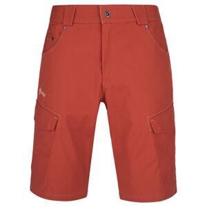 Pánské bavlněné kraťasy kilpi breeze-m tmavě červená 4xl