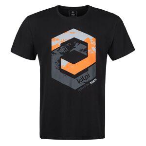Pánské bavlněné tričko kilpi hatler-m černá l