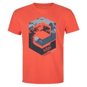 Pánské bavlněné tričko kilpi hatler-m korálová xs