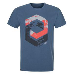 Pánské bavlněné tričko kilpi hatler-m modrá m