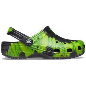 Pánské boty crocs classic tie dye černá/zelená 45-46