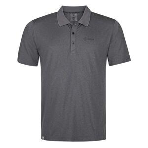 Pánské funkční polo tričko kilpi collar-m černá 7xl