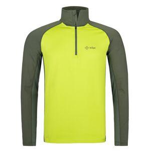 Pánské funkční triko s dlouhým rukávem kilpi willie-m světle zelená 7xl