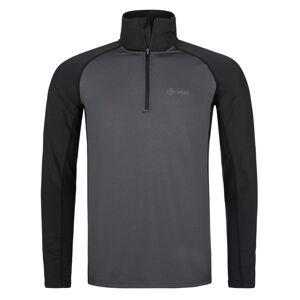 Pánské funkční triko s dlouhým rukávem kilpi willie-m tmavě šedá 4xl