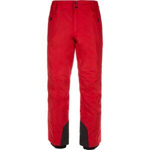 Pánské lyžařské kalhoty kilpi gabone-m červená 5xl