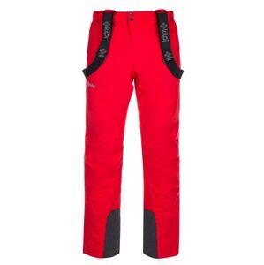 Pánské lyžařské kalhoty kilpi mimas-m červená 5xl