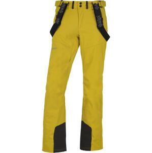 Pánské lyžařské softshellové kalhoty kilpi rhea-m žlutá xxl