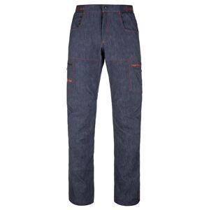 Pánské outdoorové kalhoty kilpi mimicri-m tmavě modrá s