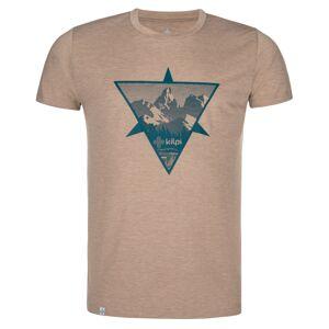 Pánské outdoorové tričko kilpi garove-m béžová s