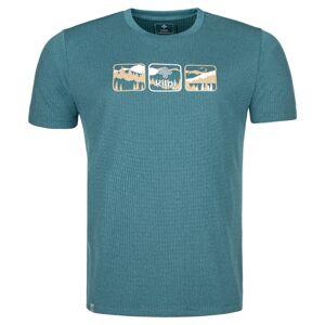 Pánské outdoorové tričko kilpi giacinto-m tyrkysová m
