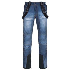 Pánské softshellové kalhoty kilpi jeanso-m modrá xl