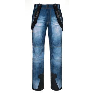 Pánské softshellové kalhoty kilpi jeanso-m modrá xs