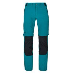 Pánské technické outdoorové kalhoty kilpi hosio-m tyrkysová xxl
