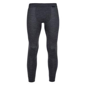 Pánské termo kalhoty kilpi spancer-m tmavě šedá xs