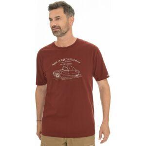 Pánské tričko bushman bobstock ii vínová xl