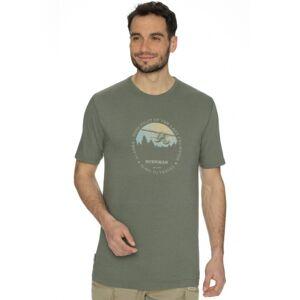 Pánské tričko bushman ice zelená m