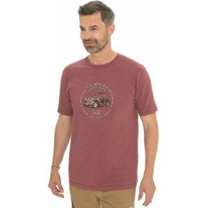 Pánské tričko bushman midland červená m