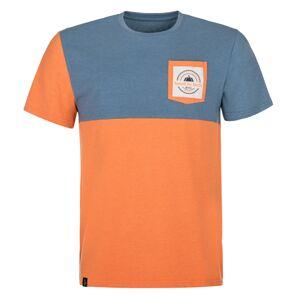 Pánské tričko kilpi melang-m oranžová xxl