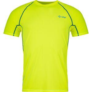 Pánské tričko kilpi rainbow-m žlutá  xxl