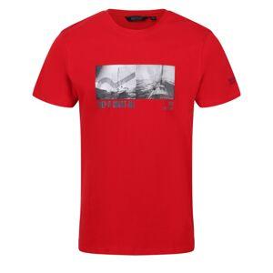 Pánské tričko regatta cline iv červená xl