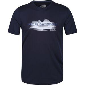 Pánské tričko regatta fingal v tmavě modrá s