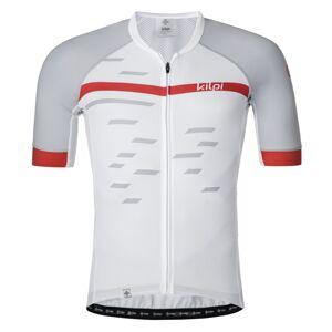 Pánský cyklistický dres kilpi veneto-m bílá 3xl