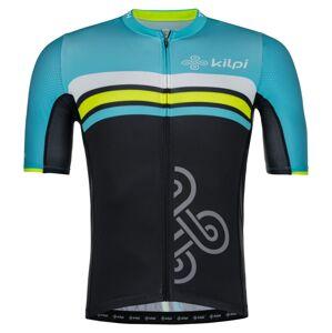 Pánský týmový cyklistický dres kilpi corridor-m světle modrá l
