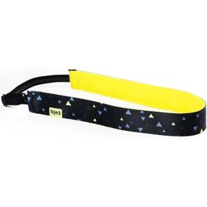 Sportovní stylová čelenka bjež pyra černá/žlutá